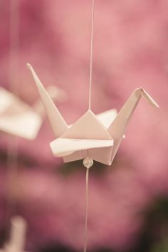 Origami Paper Crane - 1000 Cranes for Prosperity and Happiness! Photography: The Wedding Artist's Collective
