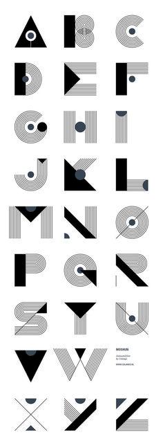 Graphic design (alphabet) · moshun by jeroen krielaars art deco typography, art deco font, font art, typography Typography Letters, Graphic Design Typography, Lettering Design, Hand Lettering, Typography Served, Font Art, Creative Typography, Typography Poster, Alphabet Design Fonts