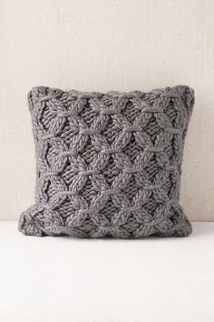 Cable-Knit Pillow - Urban Outfitters More