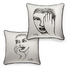 CUSHION COVER - an eye for detail | Carrol Boyes Sculpture Art, Sculptures, Eye For Detail, Stencil Art, Cushions, Pillows, Paint Ideas, Office Ideas, Pewter