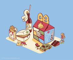 Grand Theft Happy Meal by Glen Brogan