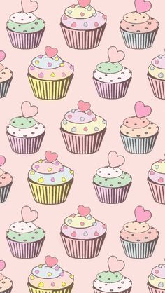 Cupcake phone background