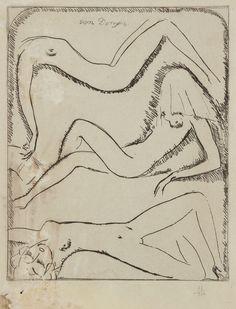 Kees van Dongen (Dutch, 1877-1968) - Three reclining...