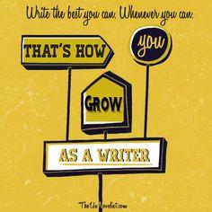 Growing as a writer.
