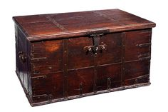 An 18th Century Oak Strong Box/Chest c. 1750 United Kingdom  DIMENSIONS Height	61.00 cm	(24.02 inches) Width	109.00 cm	(42.91 inches) Depth	64.00 cm	(25.20 inches)