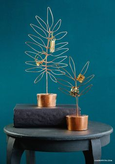 Then use copper wire to make a few plants to hang your jewelry on. | 36 Completely Fucking Awesome DIY Projects