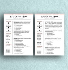 Professional Resume Template For Word Pages And Openoffice The