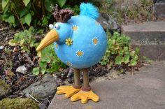 """Gartendekoration - Kugelhuhn """"Blue"""" - ein Designerstück von HolzToenchen bei DaWanda"""