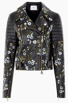 Shop ERDEM Frazey Jacket in Embroidered Leather from the Pre Spring 2017 collection, now online at Erdem.com.