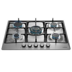 US Stock DONNGYZ 30 Kitchen Cooktop Embedded Tempered Glass Natural Gas Hob Cooktop 5 Burners Gas Stove Suitable for Commercial Restaurant Home Use