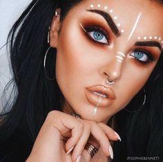 Bildergebnis für coachella make up Makeup Trends, Makeup Inspo, Makeup Inspiration, Makeup Tips, Makeup Ideas, Nail Ideas, Fun Makeup, Fresh Makeup, Awesome Makeup