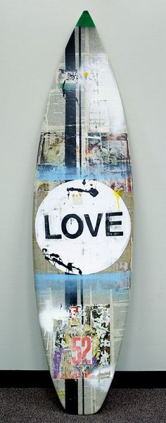 Artisan-crafted surfboard from our 2011 Surf Chic event. ☮ re-pinned by http://www.wfpblogs.com/author/southfloridah2o/