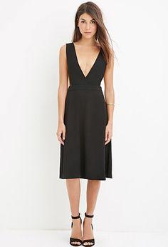 Contemporary Deep V-Neck Dress