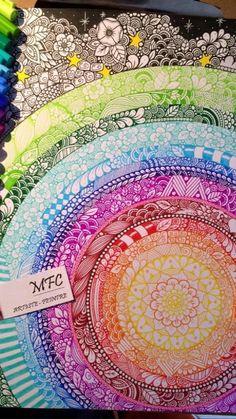 Mandala Doodle, Mandala Art Lesson, Mandala Drawing, Doodle Art, Dibujos Zentangle Art, Aquarell Tattoo, Zentangle Patterns, Zentangles, Zen Art