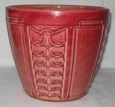 Cache-pot ancien en barbotine