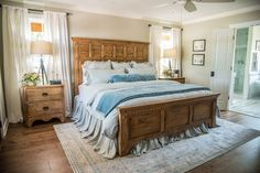The master bedroom was a complete overhaul. It was originally the front living room, but when we reworked the floor plan, it made the most sense to add the master here. The master bedroom also received new paint, flooring, trim and doors to complete the transformation.