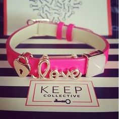 Pink leather bracelet Keeper from KEEP Collective Gorgeous! https://www.keep-collective.com/with/sarahkahn