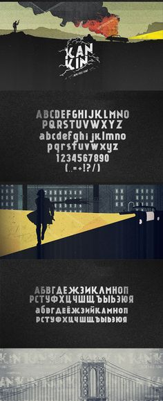 Kánkin© FREE FONT by Alexey Frolov, via Behance