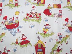 Hey, I found this really awesome Etsy listing at https://www.etsy.com/listing/206757887/vintage-nursery-rhyme-fabric-humpty