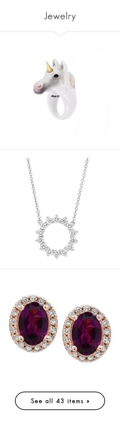 """""""Jewelry"""" by athaya99 ❤ liked on Polyvore featuring jewelry, rings, accessories, white, animals, white jewelry, white ring, porcelain jewelry, unicorn jewellery and porcelain rings"""