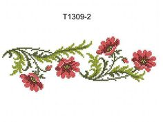 """Machine Embroidery """"Poppies in the Cross Stitch Technique"""" Embroidery Blanks, Hand Embroidery Kits, Iron On Embroidery, Embroidery Flowers Pattern, Embroidery Fabric, Machine Embroidery Patterns, Cross Stitch Embroidery, Cross Stitch Tree, Cross Stitch Borders"""