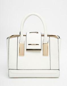 Shop River Island White Mini Frame Bag at ASOS. 3f6a2a33aca3a