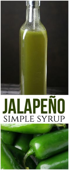 Jalapeño simple syrup is both spicy and sweet and the key to an amazing margari. - Spices, Seasonings, Sauces, CondimentsJalapeño simple syrup is both spicy and sweet and the key to an amazing margarita! It's easy to make at home with just two ke Spicy Margarita Recipe, Margarita Recipes, Jalapeno Margarita, Jalapeno Sauce, Stuffed Jalapeno Peppers, Fresh Jalapeno Recipes, Jalapeno Relish, Jalapeno Poppers, Triple Sec