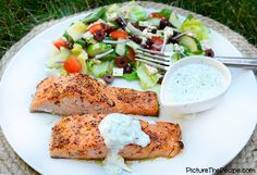 Image result for salmon tzatziki