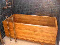 This place makes amazing custom tubs. ofuro tub made of plantation teak