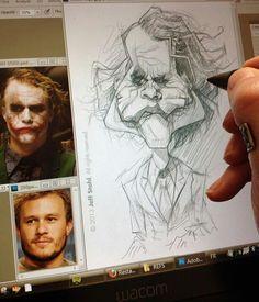 Caricatura Joker Sketch