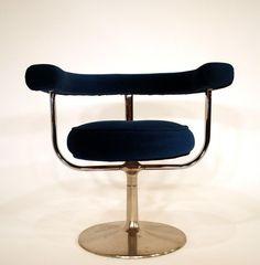 Yrjö Kukkapuro; Chromed Metal Chair for Lepokalusto, 1970s.