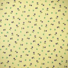 Cream Violet Floral Print, 1990s Vintage, Quilting or Fashion Cotton Fabric, Manes, Tiny Purple Flowers, Green Leaves, half yard, B37 by DartingDogFabric on Etsy