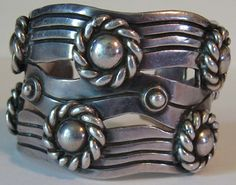 Cuff   William Spratling.  'Silver River of Life'. Sterling silver. c. 1940s, Taxco