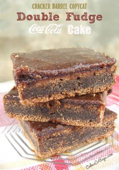 Cracker Barrel Double Fudge Coca Cola Cake - Cakescottage