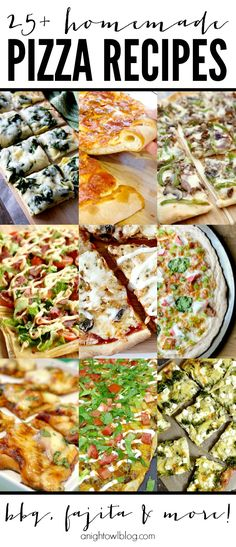 25 Homemade Pizza Recipes - perfect for game day or family pizza night! Pizza Recipes, Dinner Recipes, Cooking Recipes, Healthy Recipes, Skillet Recipes, Cooking Gadgets, I Love Food, Good Food, Yummy Food