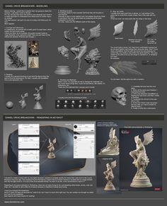 Sculpting in Zbrush / Rendering in Keyshot - by Daniel Orive © #zbrush #keyshot #3dtutorial