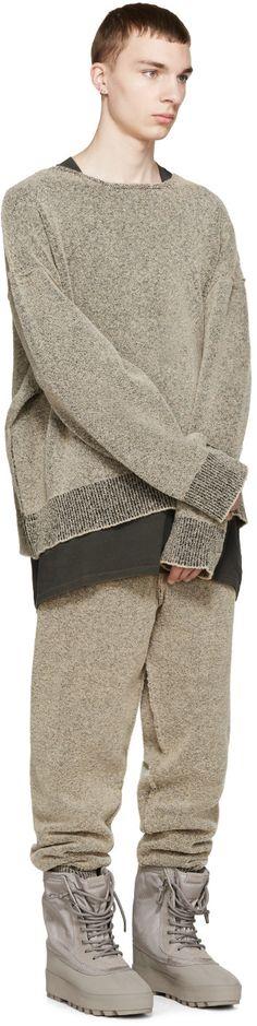follow for regular updates YEEZY Season 1 Brown Bouclé Knit Sweatshirt