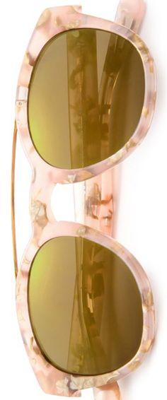 Dolce & Gabbana Phantos 50MM Marbleized Acetate & Metal Sunglasses
