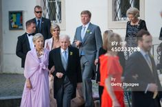 VIENNA, AUSTRIA - JUNE 07: Queen Maxima of The Netherlands, King Willem-Alexander, Princess Beatrix of The Netherlands and guests attend Juan Zorreguieta and Andrea Wolf's wedding at palais Liechtenstein on June 7, 2014 in Vienna, Austria. (Photo by Getty Images)