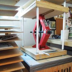 homemade printing press and nice idea for a drying rack