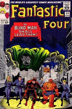 Daredevil - Dr Doom - City - Thing - A Blind Man Shall Lead Them - Jack Kirby