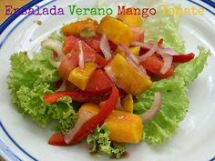 Receta Entrante : Ensalada de mango, tomate y balsámico por Coccoloba