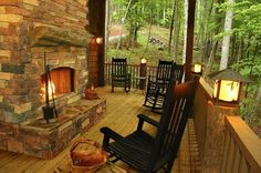 Come visit from the porch of my make believe cabin in the woods.