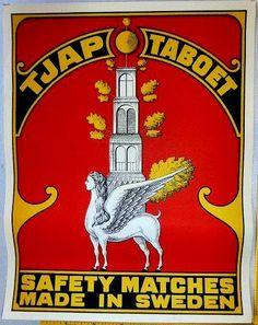 Fast Deliver Vintage Asian Safety Match Made In Europe Vintage Big Matchbox Label Buy Now Tobacciana Match Holders
