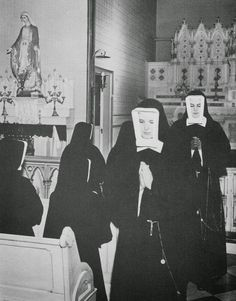 Sisters of Charity of St Elizabeth, 1950s.