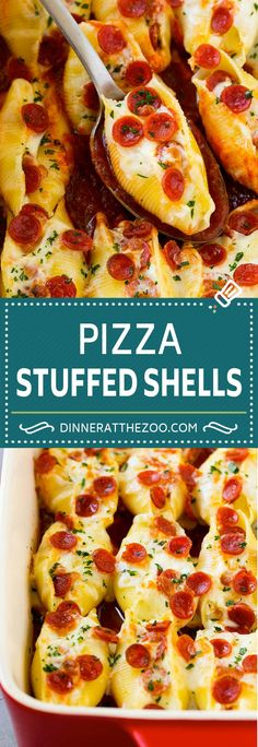 Pizza Stuffed Shells | Stuffed Shells Recipe | Italian Stuffed Shells #pizza #pasta #cheese #pepperoni #dinner #dinneratthezoo