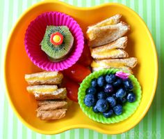 Grilled Cheese and Kiwi Bento