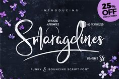 [-25% Oct] Smaragdines Font + Extras by Worn Out Media Co. on @creativemarket