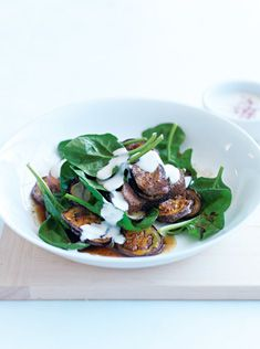 Lamb and eggplannt with tahini dressing
