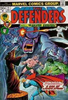 Defenders#11(1973). The Avengers/Defenders War part8. The Avengers depart and the Defenders get down to business with freeing the Black Knight from the Enchantress' spell.